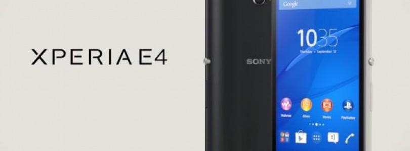 Sony lança Xperia E4 com bateria que dura 2 dias