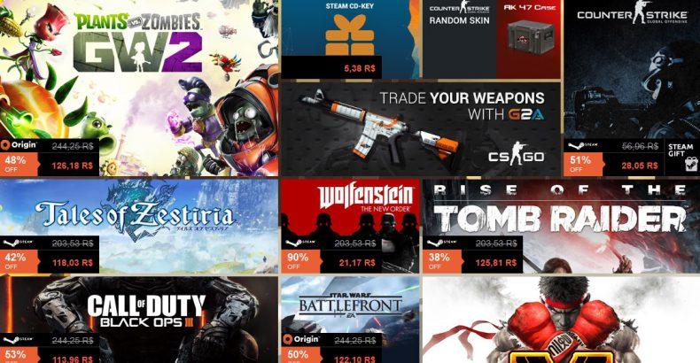 SiteCS e G2A: Mercado Digital de Jogos e Skins