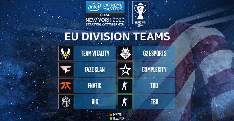 ESL anuncia times convidados para a IEM New York EU