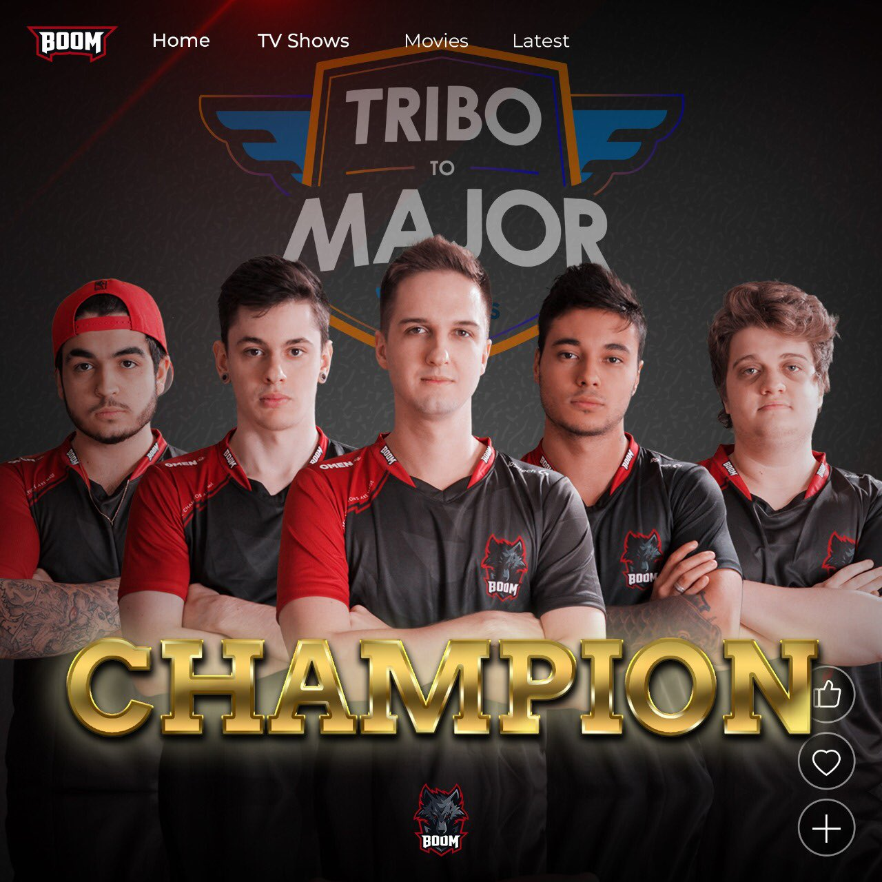 BOOM é a grande campeã da Tribo To Major