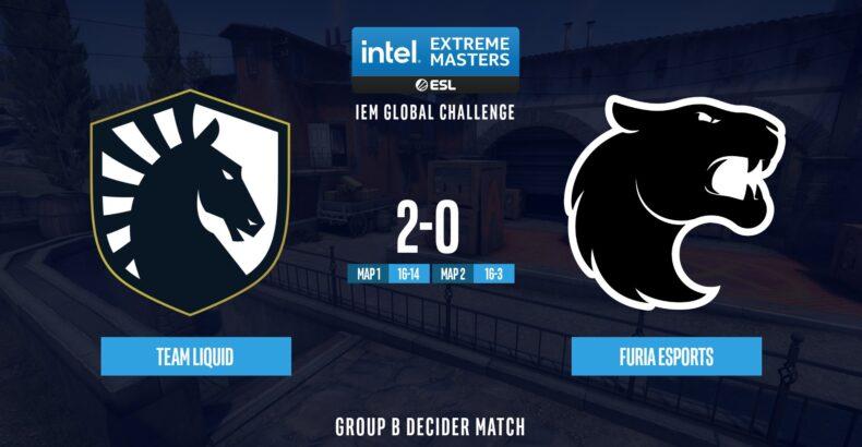 Team Liquid elimina FURIA da IEM Global Challenge